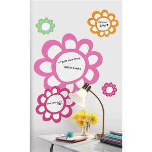 Floral Dry Erase Decal