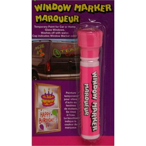 Fluorescent Pink Window Paint Marker