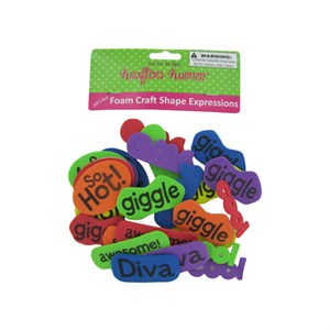 Foam Craft Shape Word Expressions