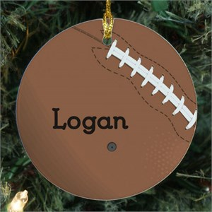 Football Personalized Ceramic Ornament
