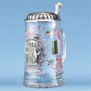Glass Italia Steins