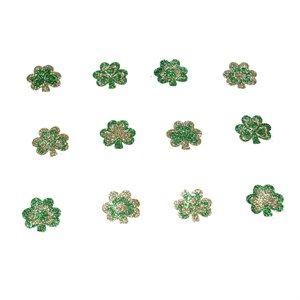 St. Patricks Day Glitter Shamrock Temporary Tattoos