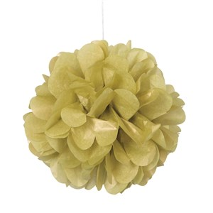 "Gold 16"" Puff Ball Decorations"
