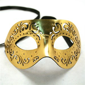Gold Masquerade Leather Mask