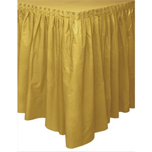 Gold Plastic Tableskirt