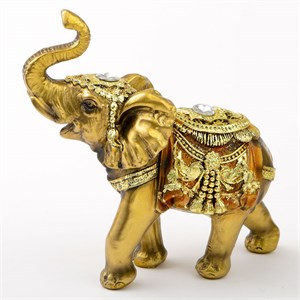 Gold with Jewels Elephant 5 Inch Tall