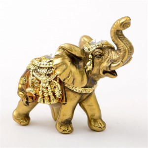 Gold with Jewels Elephant Mini Size