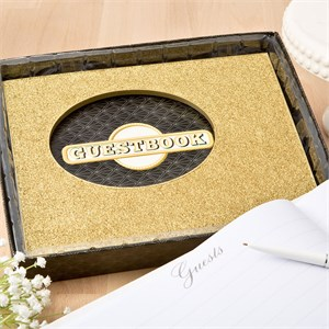Golden Elegance Collection Guest Book