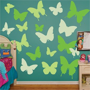 Green Butterflies REALBIG Wall Decal