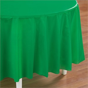 Green Plastic Table Cover - Round