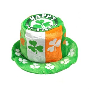 Green, White, And Orange Shamrock Hat