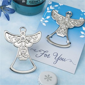 Guardian Angel Design Silver Metal Bottle Opener