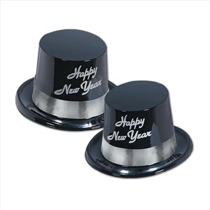 Happy New Year Silver Topper