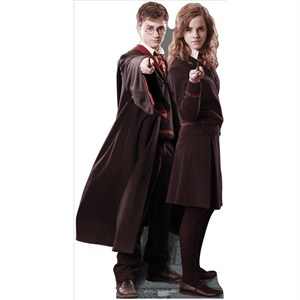 Harry And Hermione Lifesized Standup