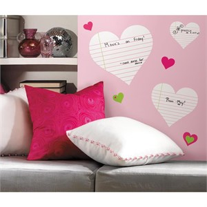 Hearts Dry Erase Peel And Stick Decal