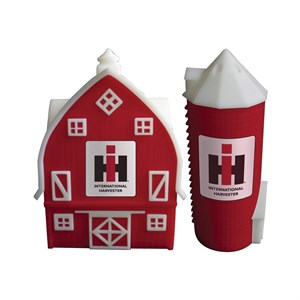 IH Farmall Barn And Silo Salt And Pepper Shakers