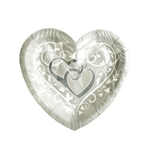 In Wedded Bliss Heart Shaped Plates