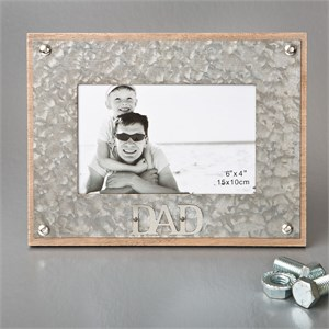 Industrial Style Metal Frame 4 x 6 Dad
