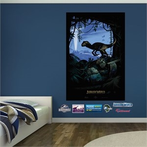 Jurassic World Movie Poster Mural Fathead Decals