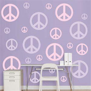 Lavender And Pink Peace Signs REALBIG Wall Decal