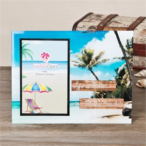 Life Is Better At The Beach Glass Frame 4 x 6