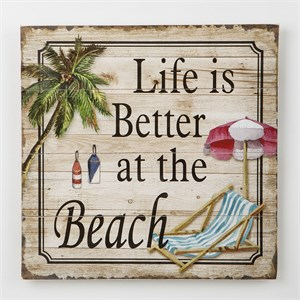 Life Is Better At The Beach Wood Wall Plaque