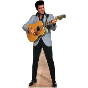 Light Blue Jacket Elvis Lifesized Standup