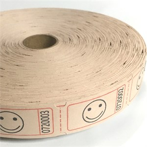 Light Brown Smile Face Ticket Roll