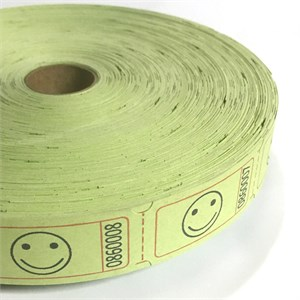 Light Green Smile Face Ticket Roll