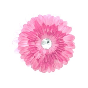 Light Pink Fabric Daisy W/Jewel