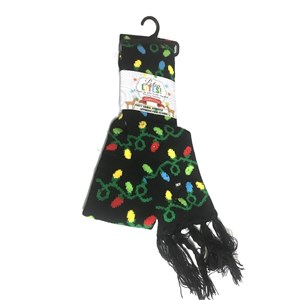 Light Up Christmas Bulbs Scarf