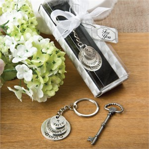 Love Hope and Faith Stacked Disc Key Chain