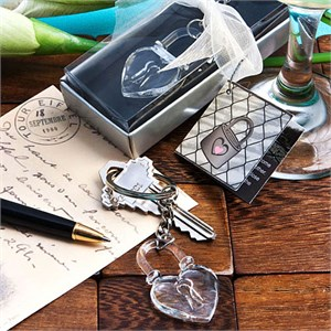 Love Locks Crystal Clear Key Chains