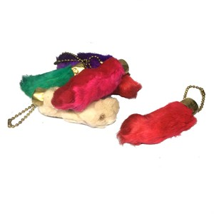 Lucky Rabbit Foot Key Chains