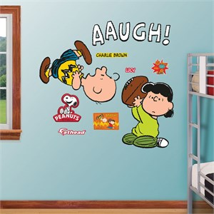 Lucy Pulls Football From Charlie Brown Wall Decal