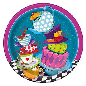 Mad Hatter Tea Party Paper Plate - 8 5/8""