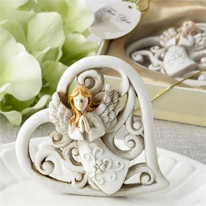Magnificent Heart Statue with Raised Praying Angel