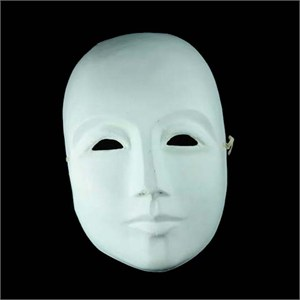 DIY Blank Paper Mache Mask For Men