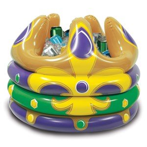 Mardi Gras Inflatable Crown Cooler