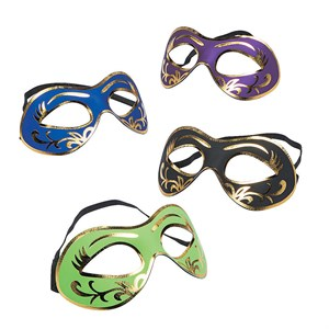 Mardi Gras Masks With Gold Accents