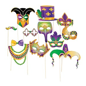 Mardi Gras Photo Booth Props On Sticks