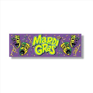 Mardi Gras Sign Banner