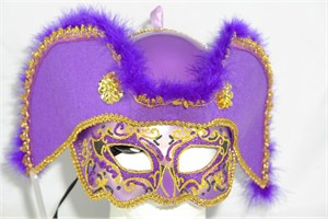 Men's Purple Pirate Mask
