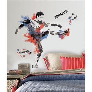 Mens Soccer Champion Giant Decal