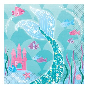 Mermaid Beverage Napkins