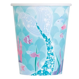Mermaid Paper Hot Cold Cups