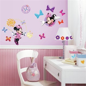 Mickey And Friends-Minnie Bow-Tique Decal