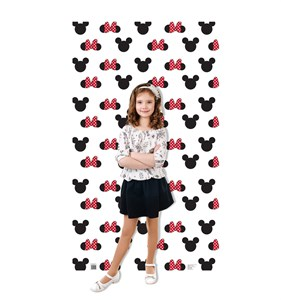 Mickey and Minnie Ears Step and Repeat Standup
