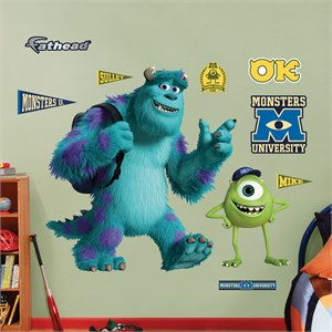 Mike and Sulley: Monsters University Wall Decal