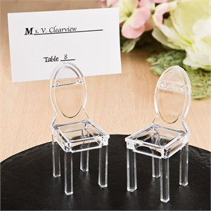 Miniature Clear Acrylic Formal Reception Chairs